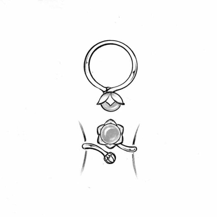 Bondpion justerbar ring - A.Brask