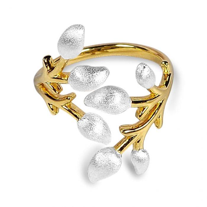 A.Brask - Blomstergren justerbar ring - Ring