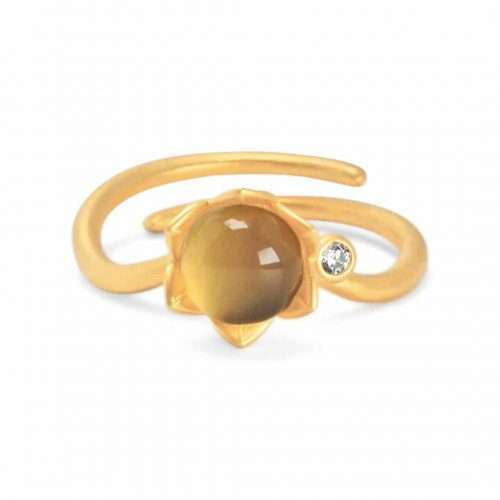 A.Brask - Bondpion justerbar ring - guld - Ring