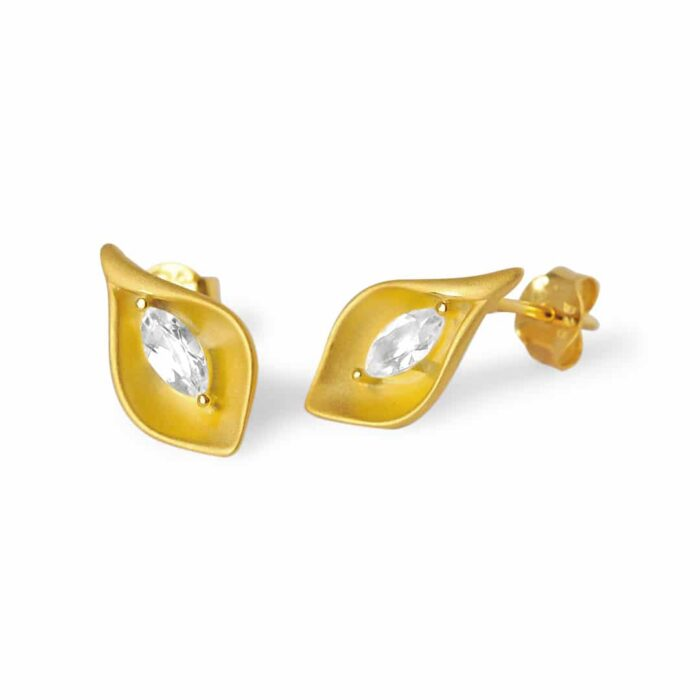 A.Brask - Örhängen med calla lilja - Örhänge