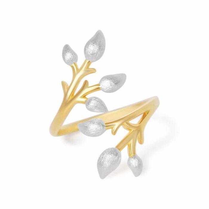 A.Brask - Blomstergren helt justerbar ring - Smycken