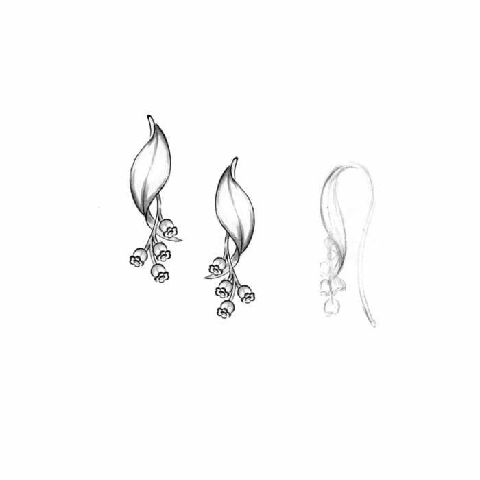Liljekonvaljörhängen - A.Brask